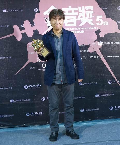 李壽全得到「傑出貢獻獎」,一席感言道出音樂人對於音樂的熱愛。