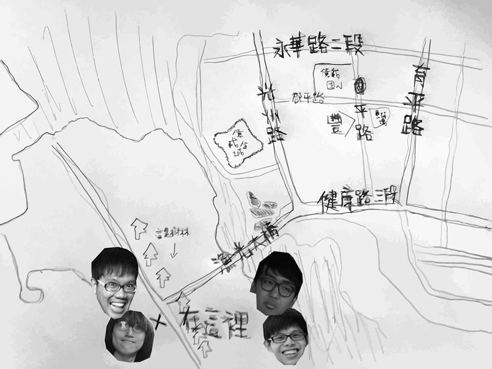 少年白繪製了交通路線圖!