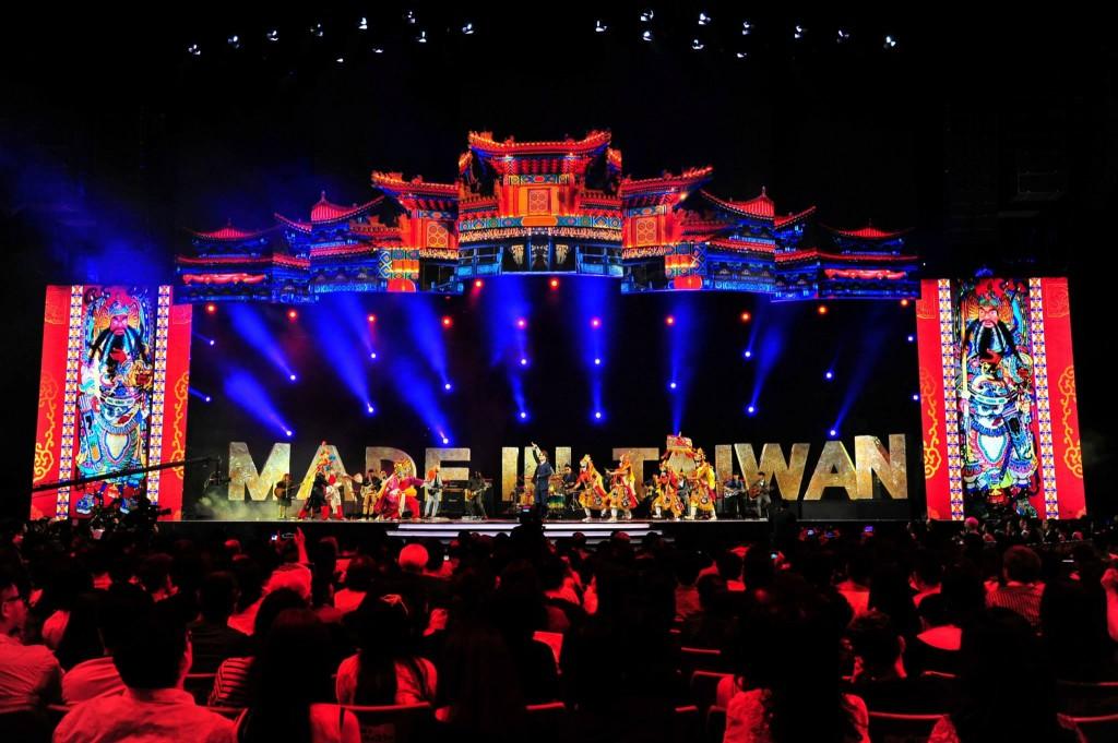 9 分鐘戲說台灣:將「台、客、原」與「樂團文化」四合一表現亮眼,但背後文化問題令人憂心。(圖片來源:金曲 GMA)