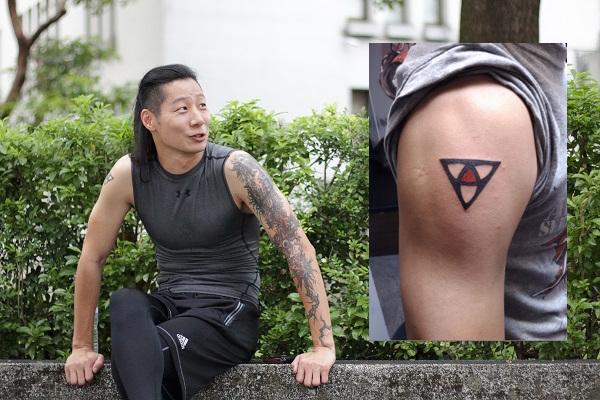台灣第一位長髮刺青的搖滾立法委員 Freddy,身上擁有大面積的刺青。(Via 時代力量、Freddy Flickr,吹音樂製圖)