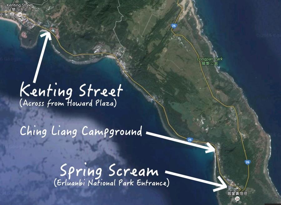 接送巴士將從北端的墾丁大街發車,經過清涼露營區,抵達鵝鑾鼻公園的活動會場,車程平均約 15 分鐘。