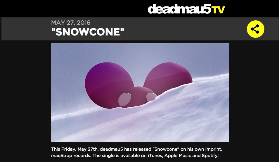 台灣樂迷暱稱「鼠爺」的 deadmau5 上個月也遷出了 SoundCloud,新作品只在 Spotify、iTunes、Apple Music 上發布。