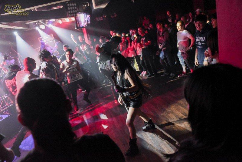 去年第一屆臺灣死亡金屬音樂節 CLANDESTINED 演出照片