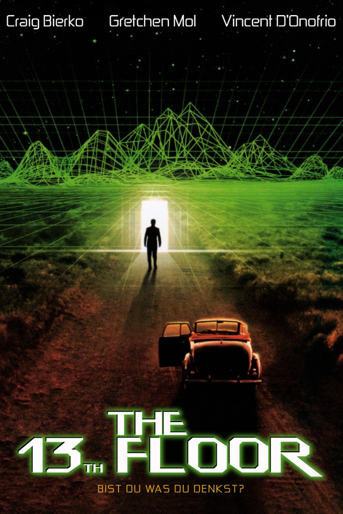 《The 13th Floor》以心物二元論哲學家笛卡爾知名的「我思,故我在。」作為片頭引言。