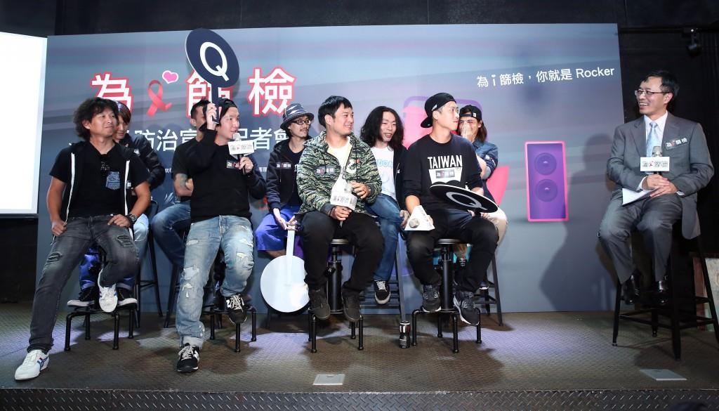 四分衛、隨性、滅火器樂團與台灣愛滋病學會洪健清理事,透過問答,破除愛滋篩檢迷思。