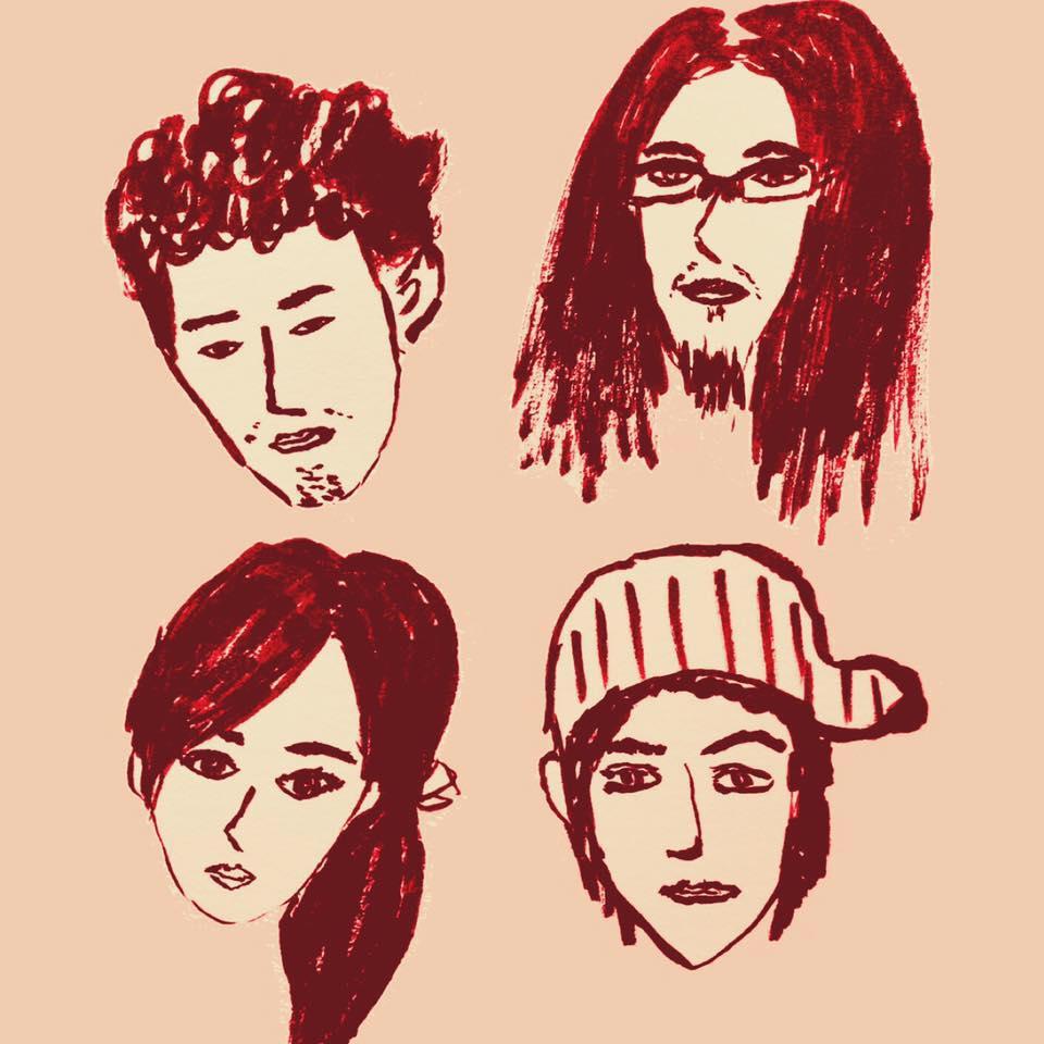 四位團員的手繪頭像,圖片來自粉絲頁