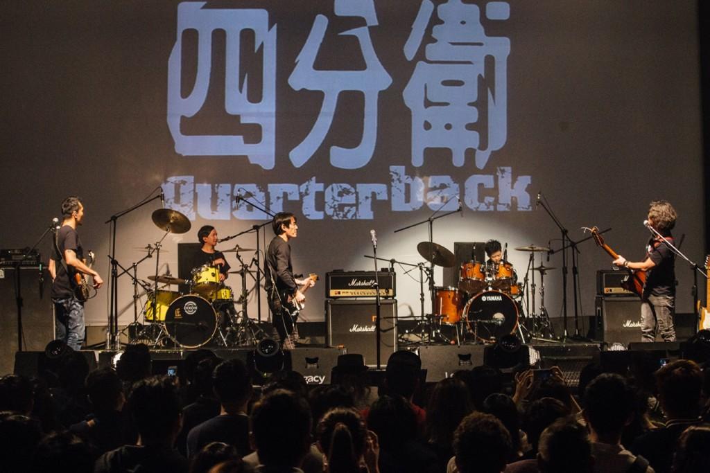 四分衛與地主小小鼓手岳駿 於Legacy台中同台軋唱又軋鼓