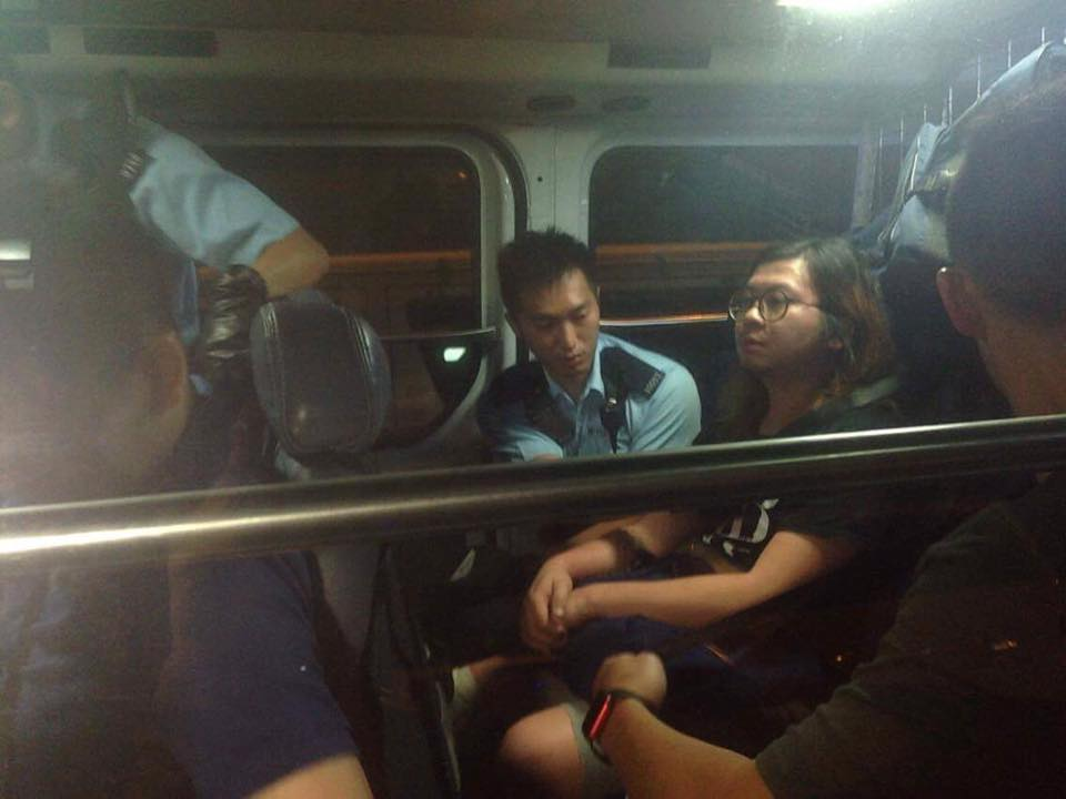 HA 負責人阿和被帶返警處(照片來源:HA 官網)