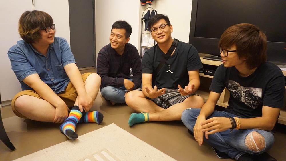 體熊專科團員(由右至左):吉他手包子、貝斯手藥包、鼓手小蟲、鋼琴手安西。