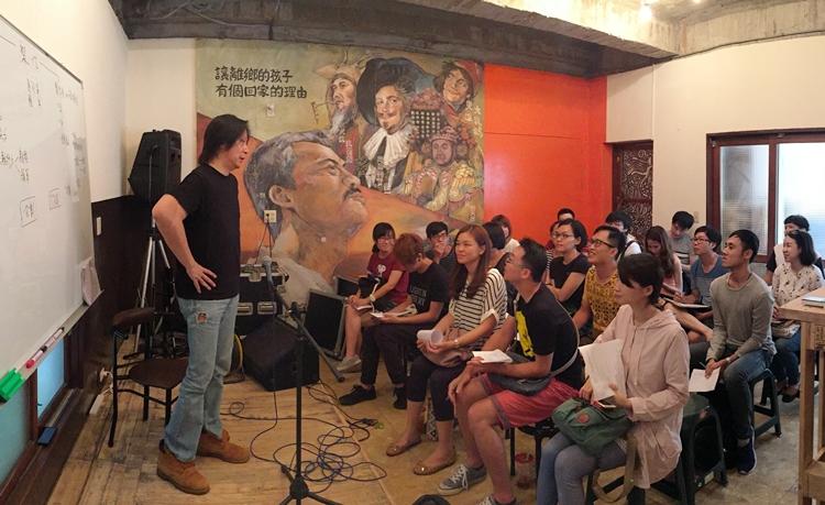 6/18 講座由黃中岳老師分享音樂與市場的接合介面,並談論音樂製作人的職能。