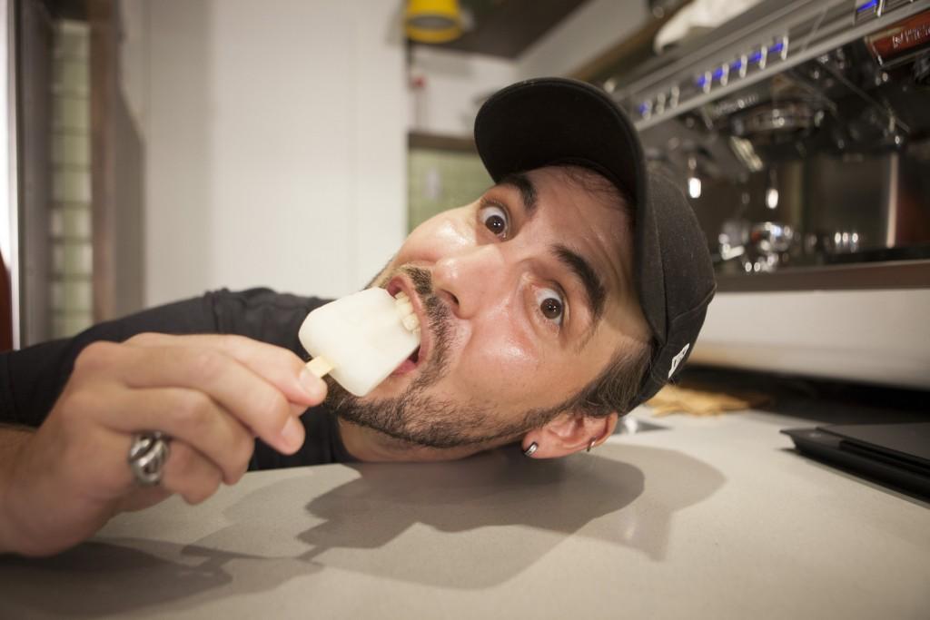 大麵:我吃的是檸檬口味,我很開心,不會太甜,酸酸甜甜,跟我的個性一樣。