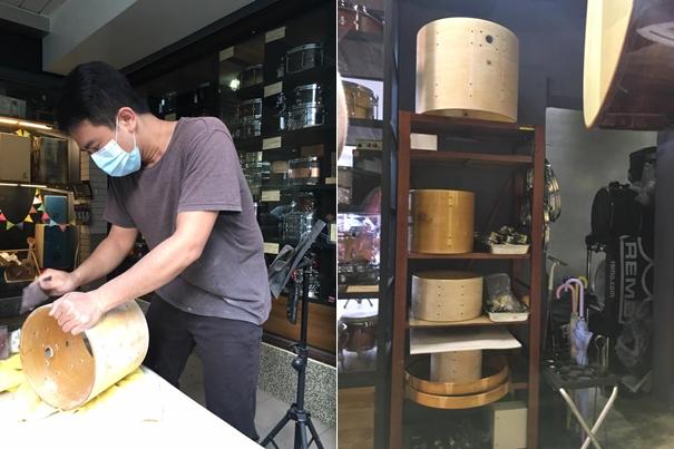 機器完了之後再手動,大約三天可以處理一顆鼓。