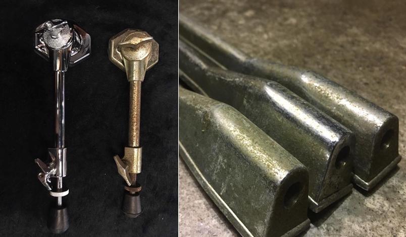 更換原廠零件,原廠 Lug 已經無法使用,鼓肚固定螺母已崩壞。