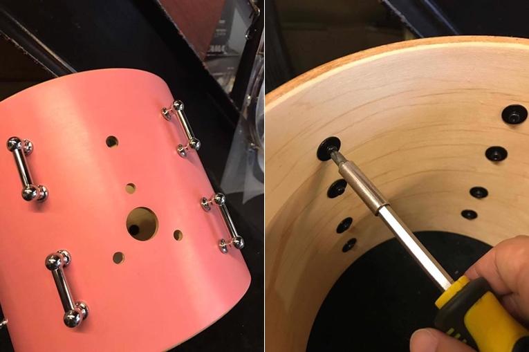 (左)捨棄原本的 Holder,想要改為一般通用懸吊 (右)再次感謝茗匠的優質配件支援