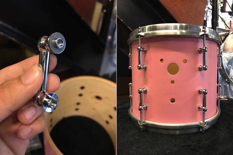 (左)因應鼓肚加上墊片 (右)這洞之後再處理