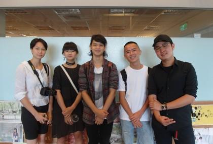 2017海洋音樂祭高中生評審團(左起:莊蜨、嚴昕、翁瑋宏、大頭、葉宸宇)