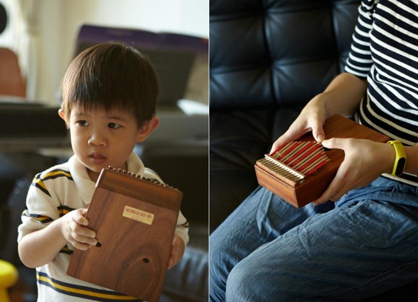 Peter家裡還有Kalimba(手指琴)、小提琴等各種樂器(玩具)。