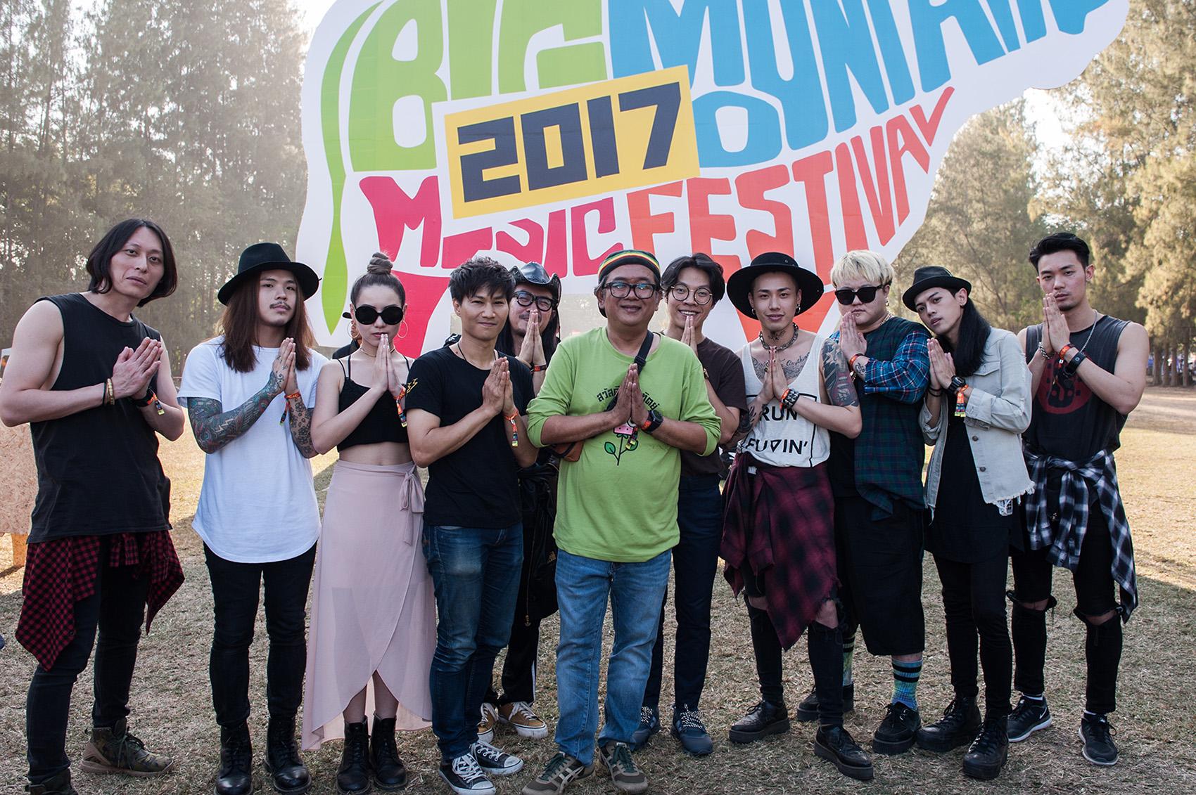大山音樂節主辦方,GAN 公司總裁 Yuthana Boonorm 前來與台灣的三組樂團見面。