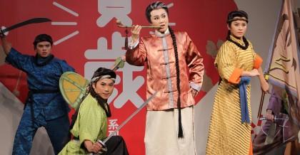 明華園戲劇總團演出正港台客武俠「俠貓 」。 圖中為孫翠鳳。(傳藝中心提供)