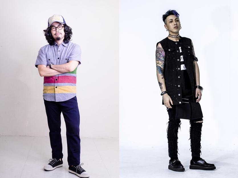 奇哥(左)與 Trash 主唱阿夜(右)。