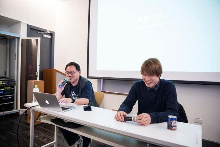 溫子捷(左)與翻面映畫主理人查拉(右)。