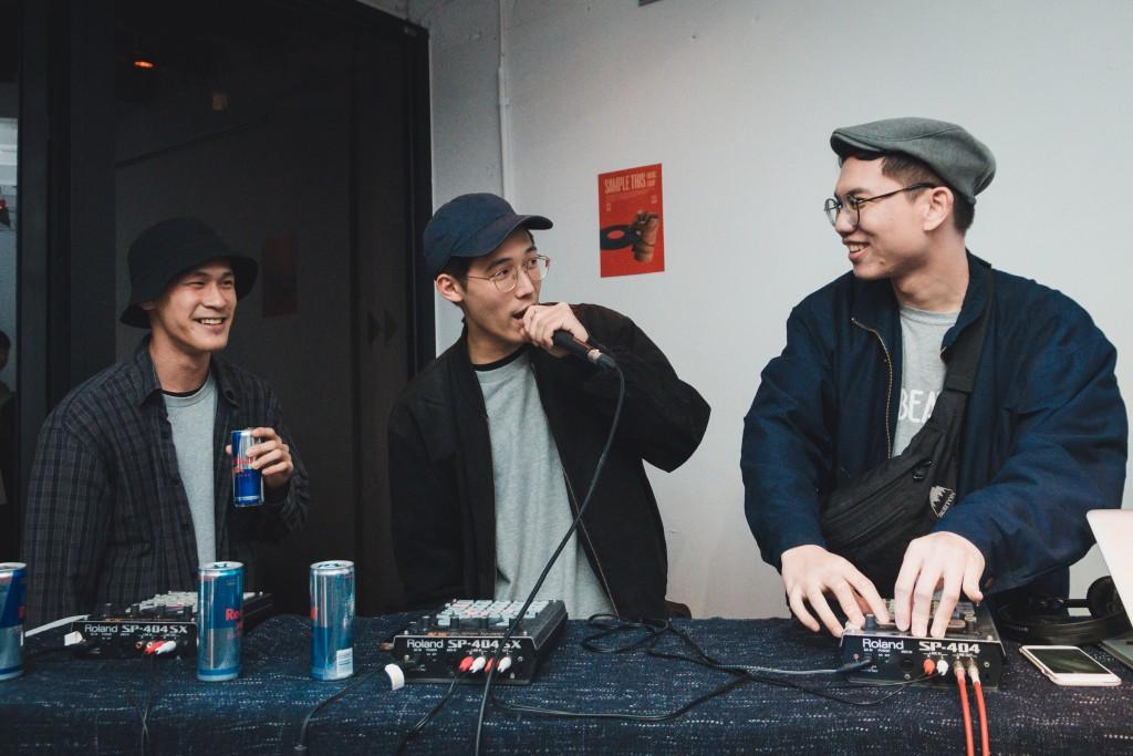 左起:taro、DJ Kool Klone、Conehead 錐頭