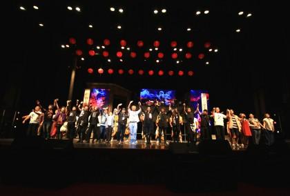 《風中浮沉的花蕊》台北首演成功,全員大謝幕。