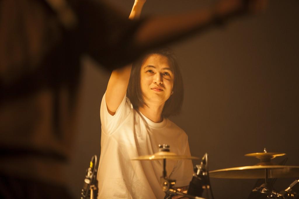 當天義氣相挺的鼓手阿傑。
