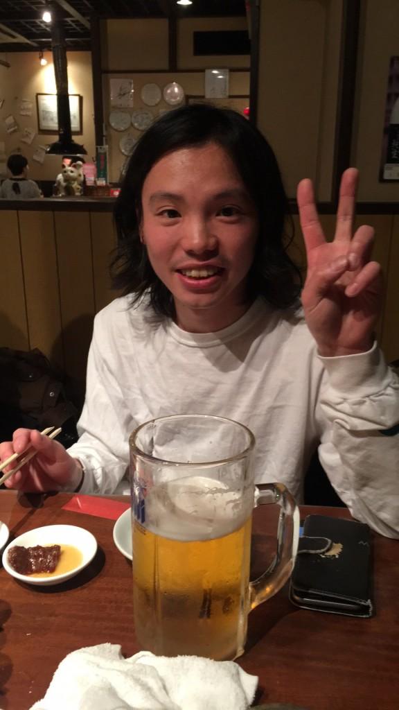 日本團cinema staff 的吉他手辻 友貴,也是唱片行like a fool records的老闆,替不少團做過發行,是我每次來日本都會見面的好朋友。