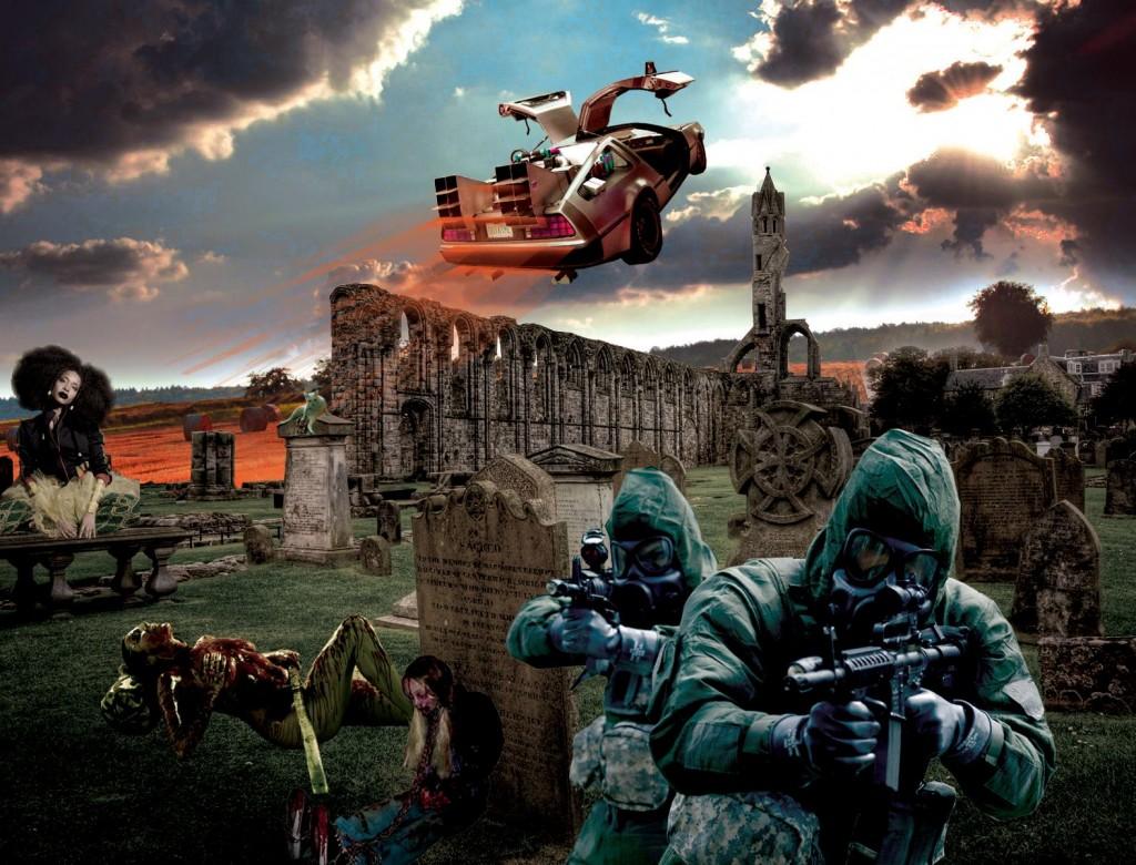 J.Sheon 大學時的創作《Armageddon》 敘述:世界末日後歡樂的模樣。