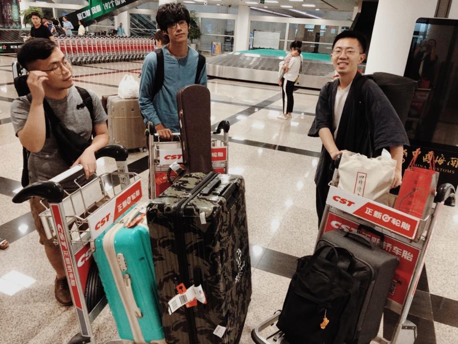 廈門高崎機場 剛剛到達的我們