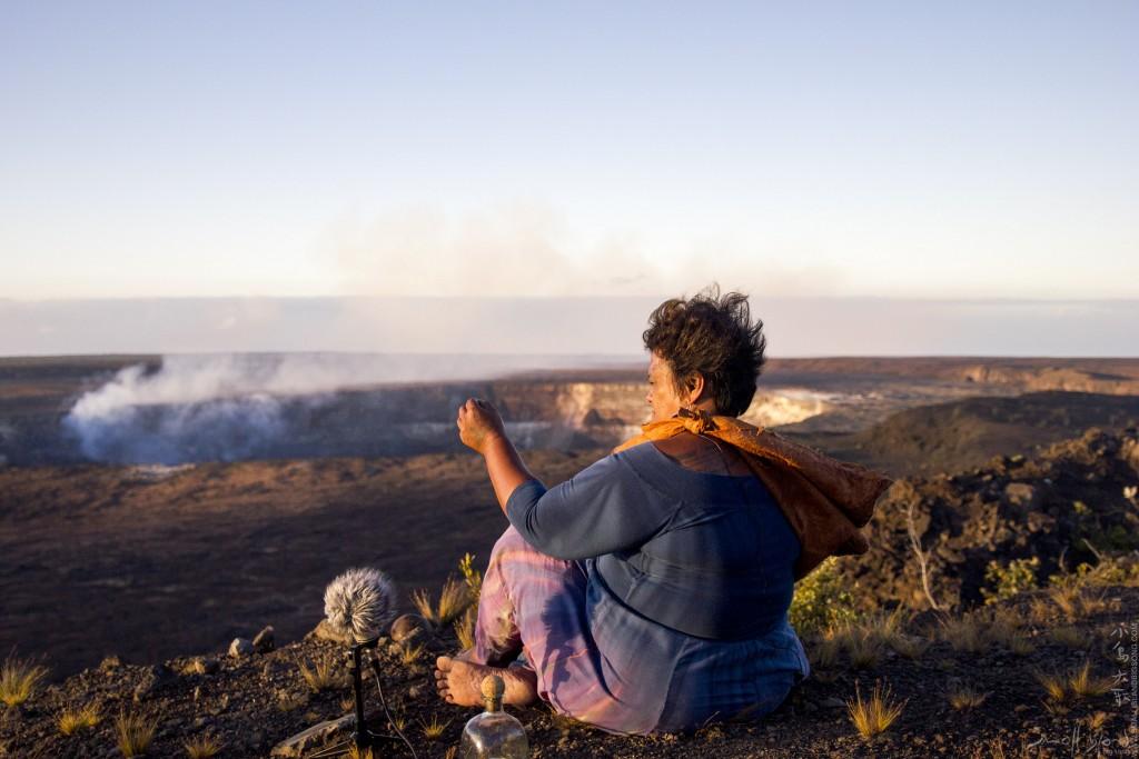小島大歌 於夏威夷火山口拍攝錄音
