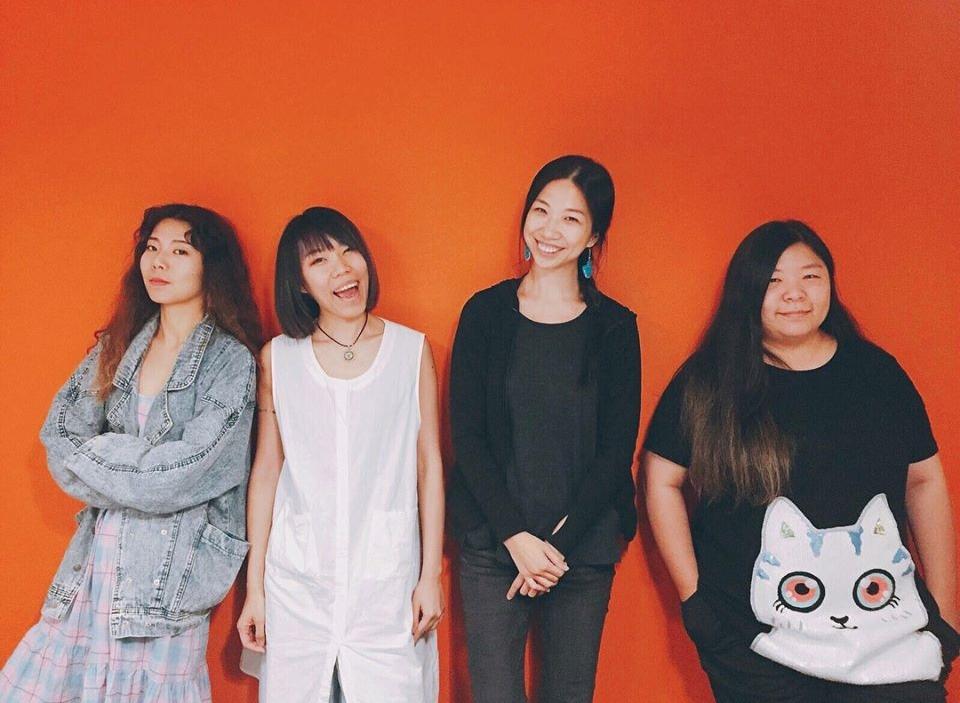 (由左至右)Mandark、丁不拉丁、蘇珮卿、劉涵。