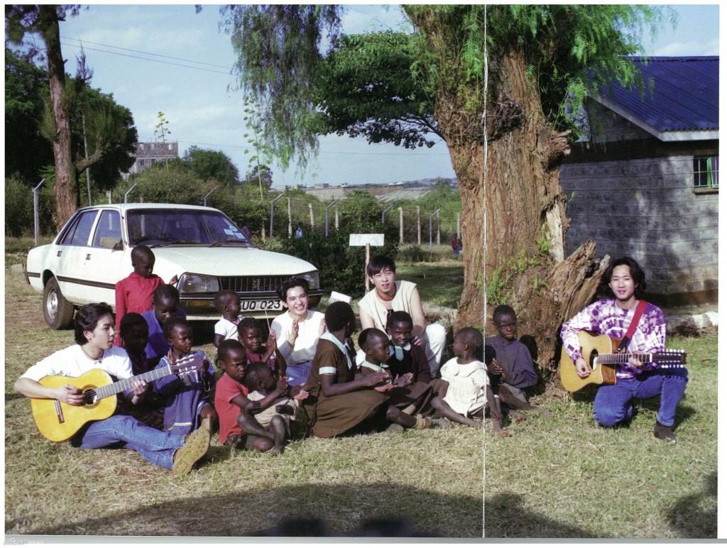 Beyond 在肯亞探訪了很多村莊,並給他們帶來音樂(圖片來源:Beyond 肯亞之行)