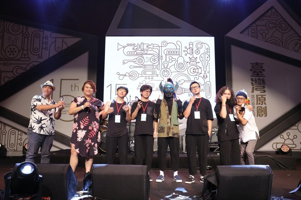 107年臺灣原創流行音樂大獎,三首獎合影留念。