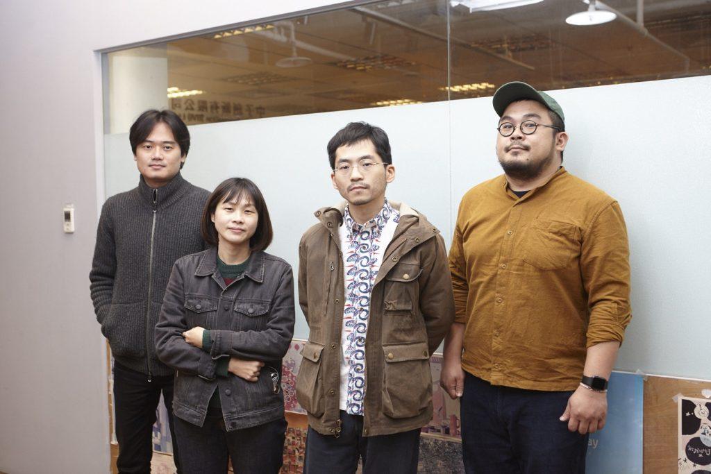 鼓手來來缺席,圖片左至右:貝斯手阿弘、吉他手兼主唱阮瞇、吉他手小周、吉他手兼主唱曾立。