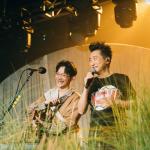 落日飛車「颱風騎士」專場第二日 國國與偶像「哈林」庾澄慶合唱〈情非得已〉
